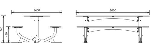 JEL-0137 - Table pique-nique