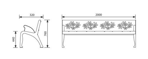 JAN-0009 - Banc Cherry Flower confort