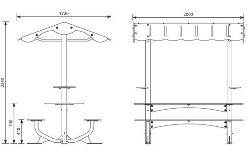 JAN-0037 - Table pique nique couverte