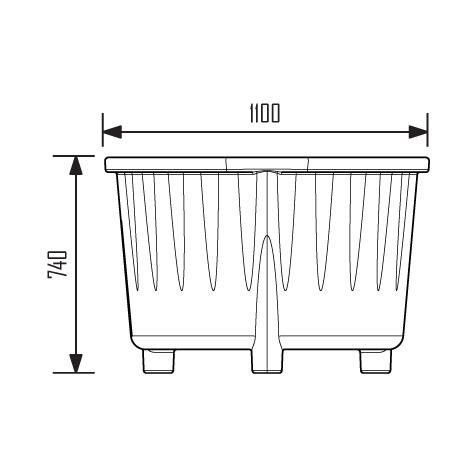 JAN-0042 - Bac rond rotomoulé