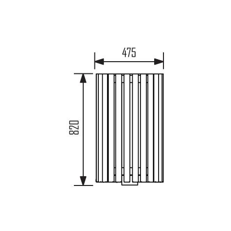 JBC-0055 - Corbeille Urbaine exo 65L
