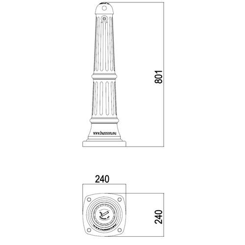 JAN-0059  Cendrier borne C - PLAN