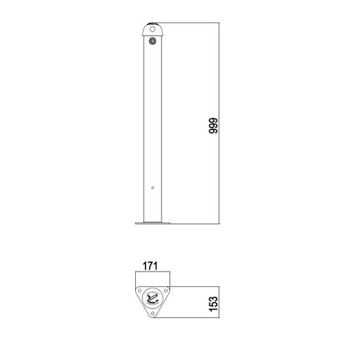 JAN-0062  Cendrier borne métal - PLAN