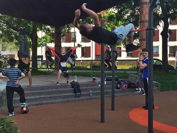 Fitness exterieur street workout