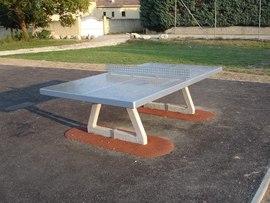 Einzelspielger te solo beton tischtennisplatte for Tennis de table exterieur