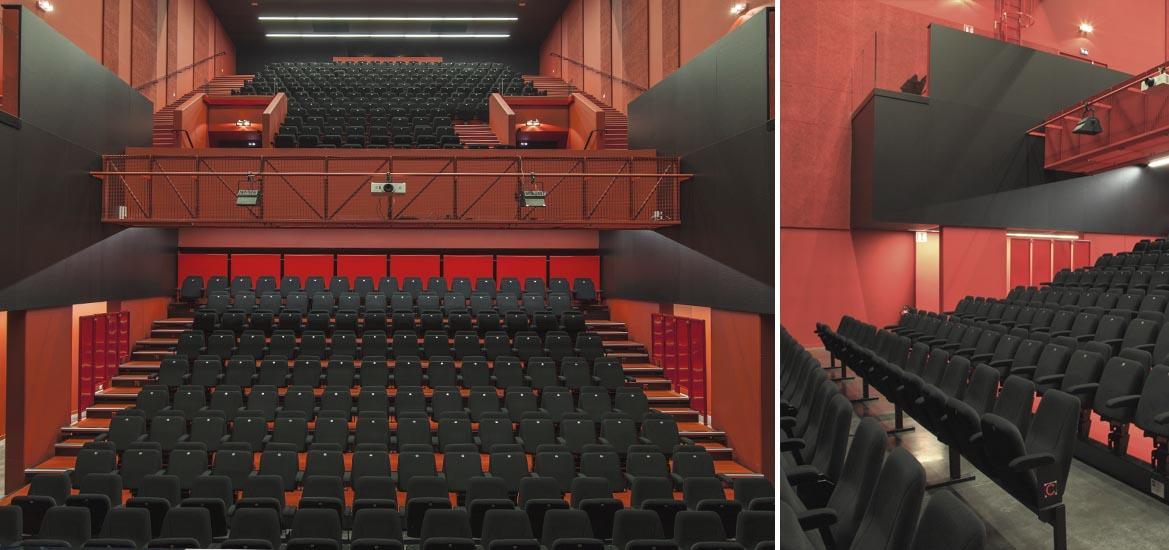tribunes t lescopiques pour salles de spectacles husson. Black Bedroom Furniture Sets. Home Design Ideas