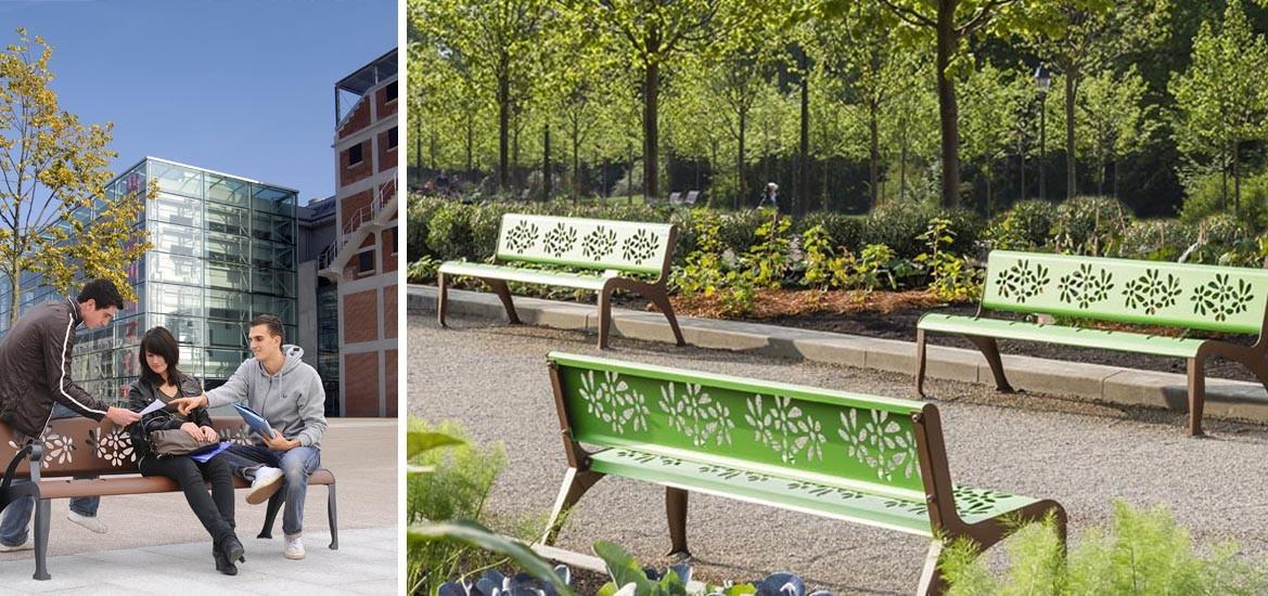 bancs pour mobilier urbain des collectivit s husson international. Black Bedroom Furniture Sets. Home Design Ideas