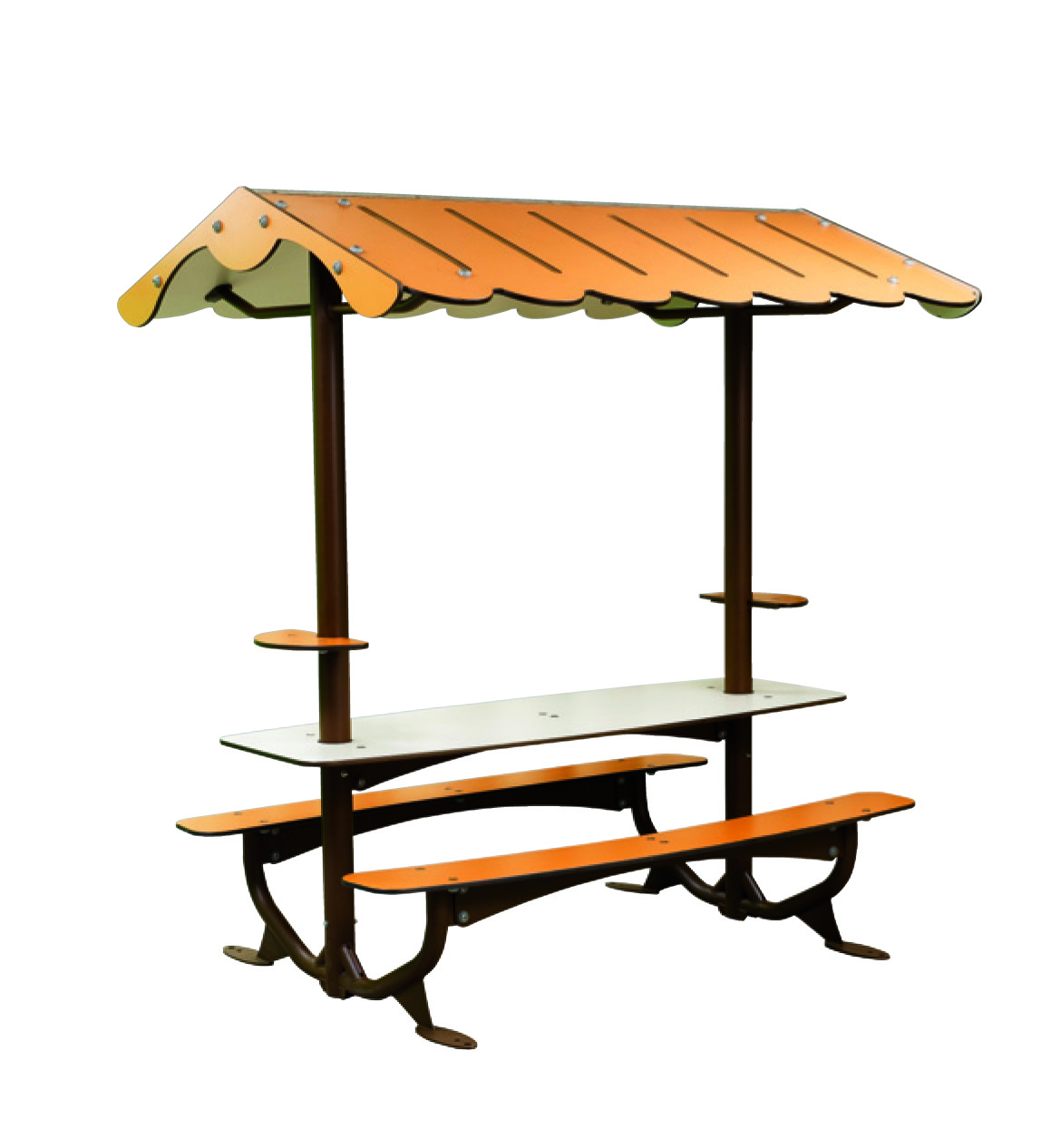 Covered Picnic Tables : Benches picnic table covered kit husson international
