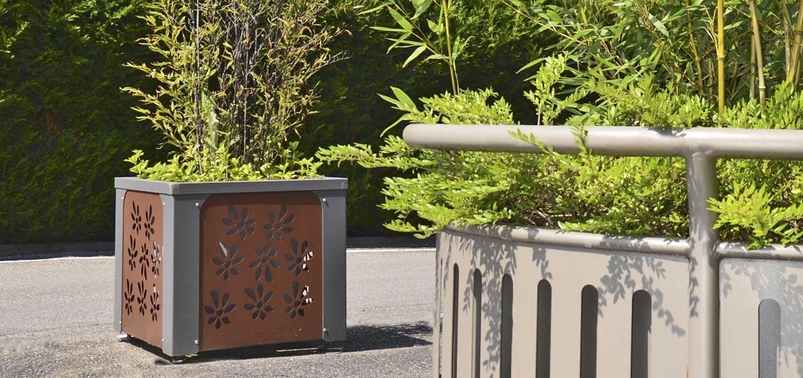 jardini res et bacs fleurs mobilier urbain husson. Black Bedroom Furniture Sets. Home Design Ideas