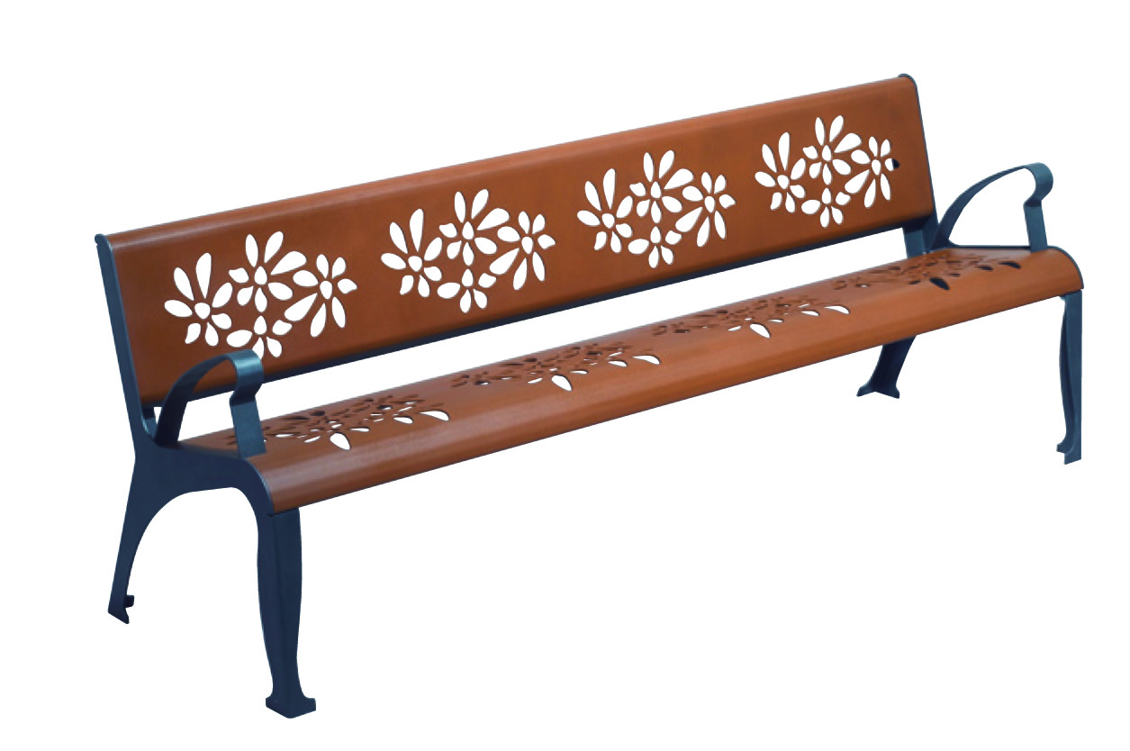 benches bench cherry flowers comfort assembled husson international. Black Bedroom Furniture Sets. Home Design Ideas